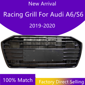 New Arrival Front Bumper Grille With ACC For Audi A6/S6 C8 2019 2020 Racing Grill