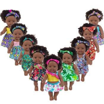 40cm soft silicone vinyl rebron baby doll non toxic safe toy handmade lifelike newborn baby toy doll for children girls playmate American rebirth black baby handmade silicone vinyl baby soft and realistic enamel doll newborn baby doll 30cm