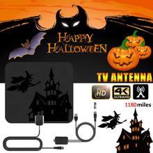 Recentemente DVB-T2 freeview tv amplificador de sinal para o natal de halloween 1180 milhas digital hdtv antena interior 4 k alta definição