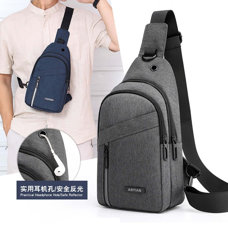 New Style Oxford Cloth Chest Pack Large Capacity Travel Shoulder Bag Fashion Outdoor Shoulder Bag Trend Versatile MEN'S Backpack