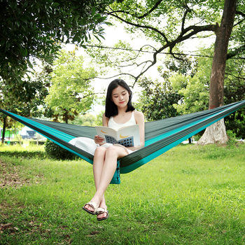 Portable Hammock Ultralight outdoor furniture Camping Tent Strong Capacity Parachute Chair Garden Cot Bed Hammock Sleeping Swing ultralight portable parachute hammock outdoor leisure double hammock outdoor furniture camping hammock garden swing chair gift