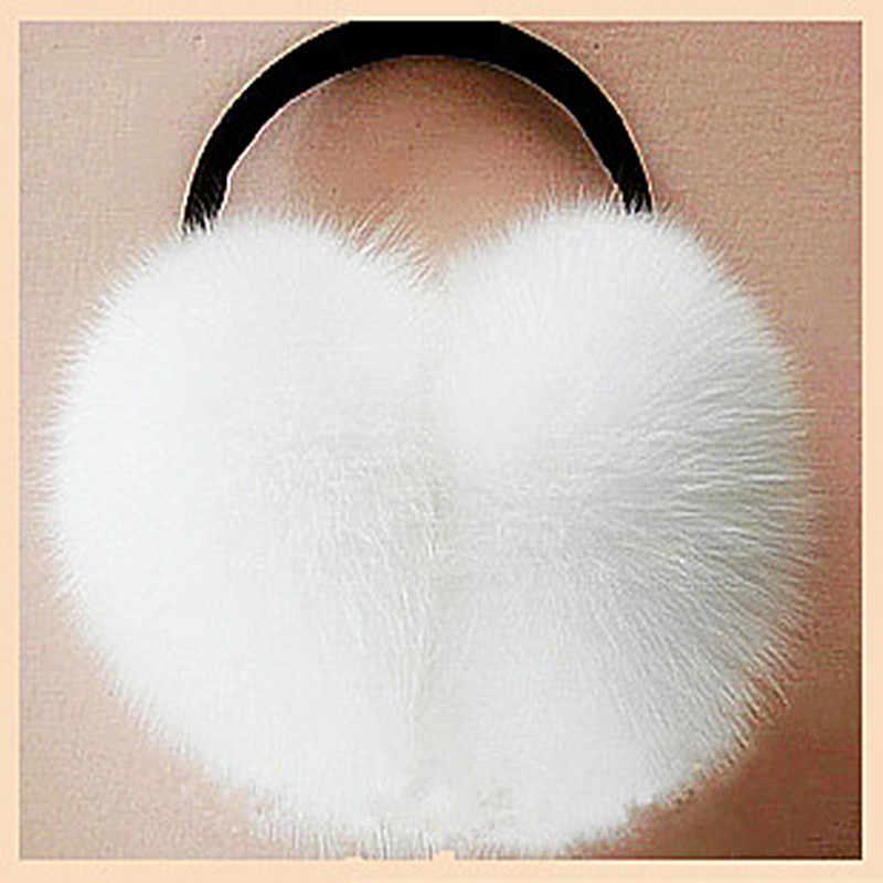 2019 earmuffs pele de raposa grande pele de raposa earmuffs pele térmica pele earmuff headphones proteger os ouvidos