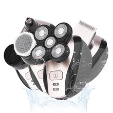 Electric Razor for Men 5 in 1 Head and Face Electric Rotary Shaver