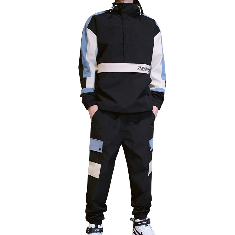 2019 New Men's Long-Sleeved Jacket Sweater Suit Men's Fashion Casual Sports Overalls Two-Piece Autumn And Winter  BB50T