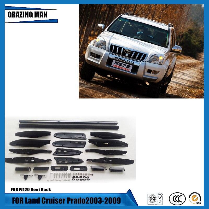 Samochodowy bagażnik dachowy dla Land Cruiser Prado 2003-2009 Prado FJ120 bagażnik