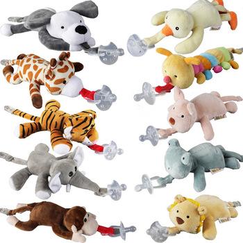 Duża lalka Baby Boy Girl Dummy klips z łańcuszkiem do smoczka pluszowe zabawki zwierzęta smoczek sutki Holder (nie obejmuje smoczka) tanie i dobre opinie Silica gel CN (pochodzenie) 4 miesięcy MATERNITY W wieku 0-6m 7-12m 13-24m 25-36m 4-6y 7-12y W stylu rysunkowym LXY529