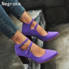 Ladies 2019 Summer High Heel Sandals Shoes Women Ankle Strap Plus Size 43 Thick Heel Shoes Sandale Femme Zapatos De Mujer недорого
