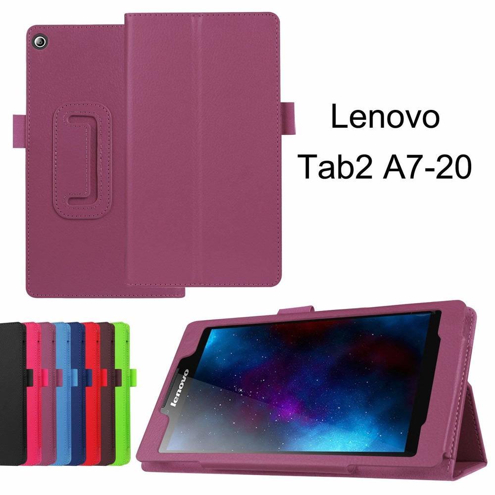 Capa para lenovo tab 2 A7-10 A7-10F A7-20 A7-20F tab2 a7 20 10 tablet caso suporte flip moda pu couro funda capa vidro