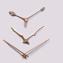1 set Wooden pointers DIY creative wall clock hands 10 12 inch clock Walnut wood needle Quartz Clock replace part Accessories