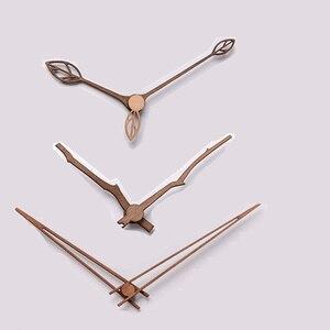 1 set Wooden pointers DIY creative wall clock hands 10 12 inch clock Walnut wood needle Quartz Clock replace part Accessories(China)