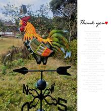 Colorful Cock Outdoor Wind Sock Weather Vane Kit Home Rooster Wind Monitoring Needs Wind Indicator Garden Decoration