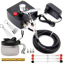 Air-Compressor-Kit Painting-Set Nozzle Spray-Gun Manicure-Craft Action-Airbrush Dual