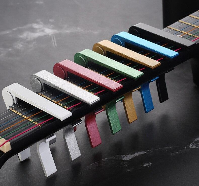 Univerzalni pribor za capo gitaru brza promjena stezaljka aluminijska - Glazbeni instrumenti - Foto 5