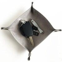 С защелками дисплей ключ монета лоток для хранения Домашний Настольный кожаный из искусственной кожи в скандинавском стиле блюдо настольн...