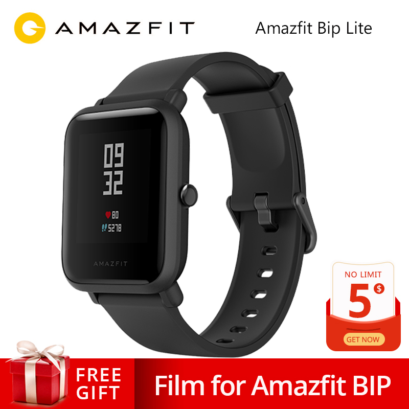 Amazfit Smartwatch GPS Sleep-Monitor Bip-Lite Days-Battery-Life 24h-Heart-Rate Global-Edition