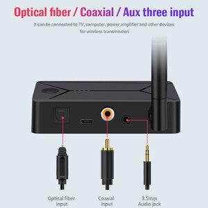 Image 5 - DISOUR Bluetooth 5,0 Audio Sender 3,5mm AUX Koaxial optische Faser Jack Stereo Wireless Adapter Für TV PC Bluetooth Lautsprecher