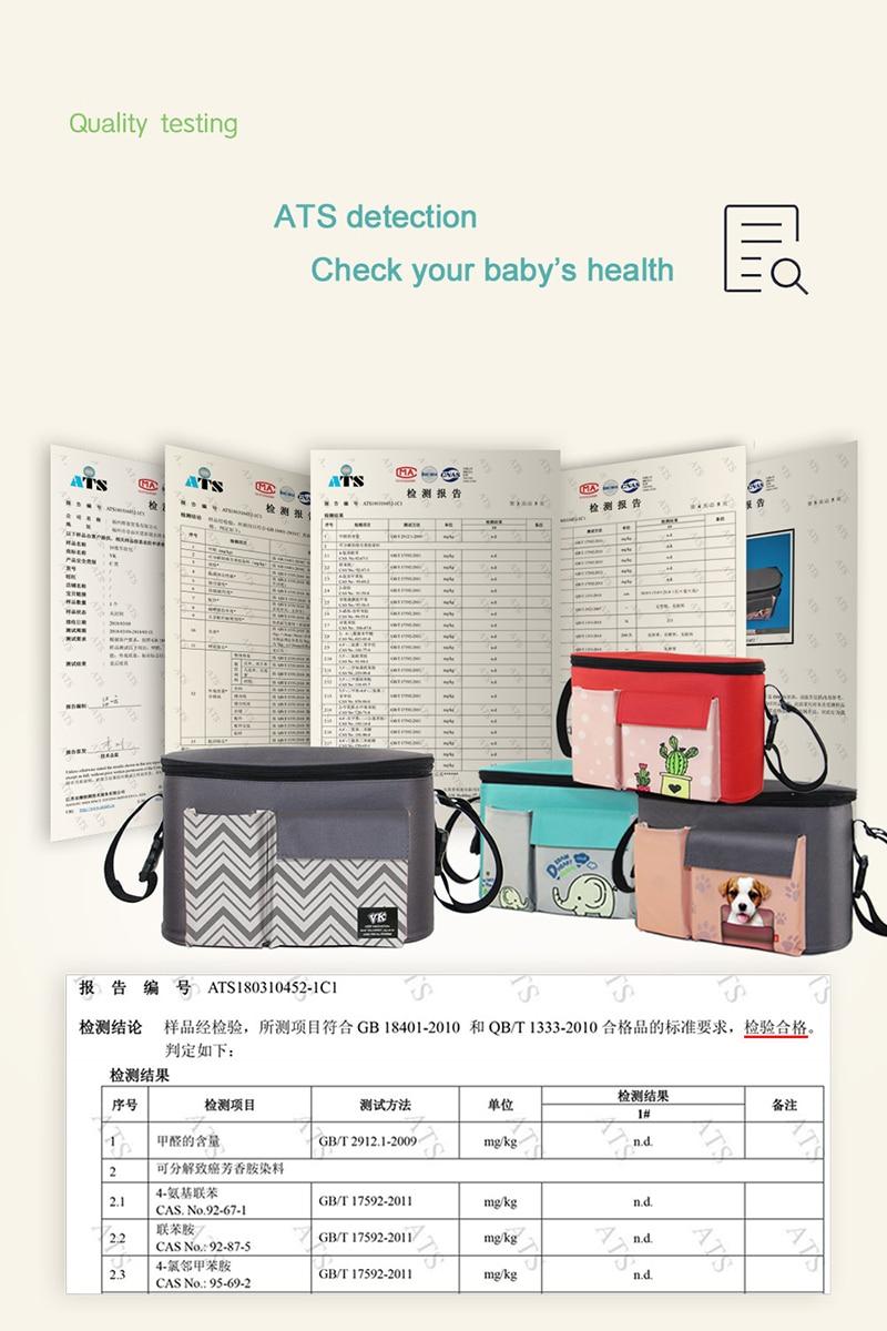 H727cf99e1ca94f6182eab310e7701e93m Diaper Bag Baby Stroller Organizer Hanging Nappy Bag Large Capacity Travel Backpack Pram Buggy Cart Waterproof Maternity Bag