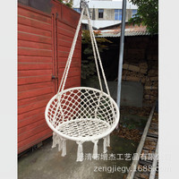 Nordic casual garden outdoor hammock hanging chair swing basket flax rope hammock straps home furniture outdoor furniture