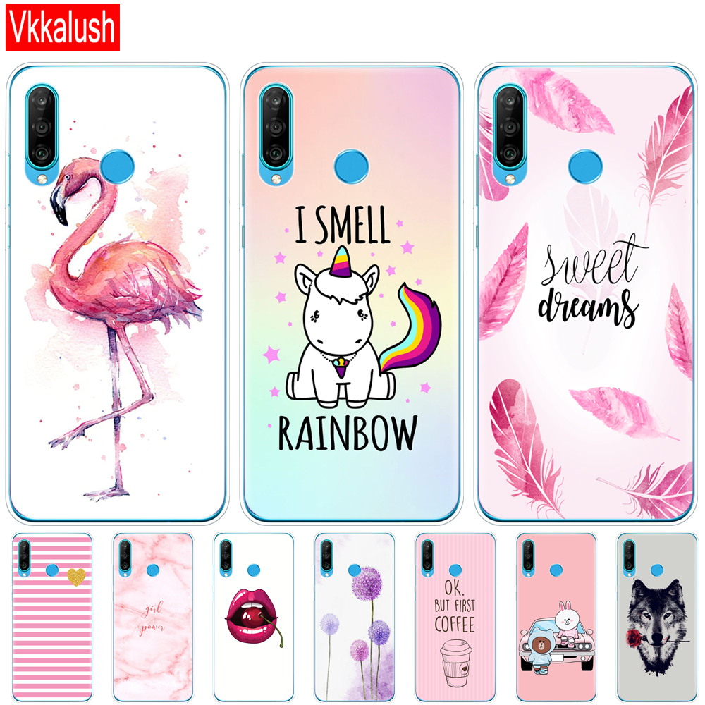 case for Huawei P30 Pro Case Huawei P30Pro Case Silicon tpu Phone shell Cover On Huawei P30 Pro VOG-L29 ELE-L29 P 30 Lite Case