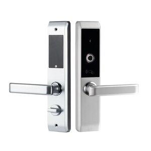 Image 1 - Lachco 2020 バイオメトリック指紋スマートドアロック、コード、カード、タッチスクリーンデジタルパスワード電子ロックキー家庭用 lk18A3F