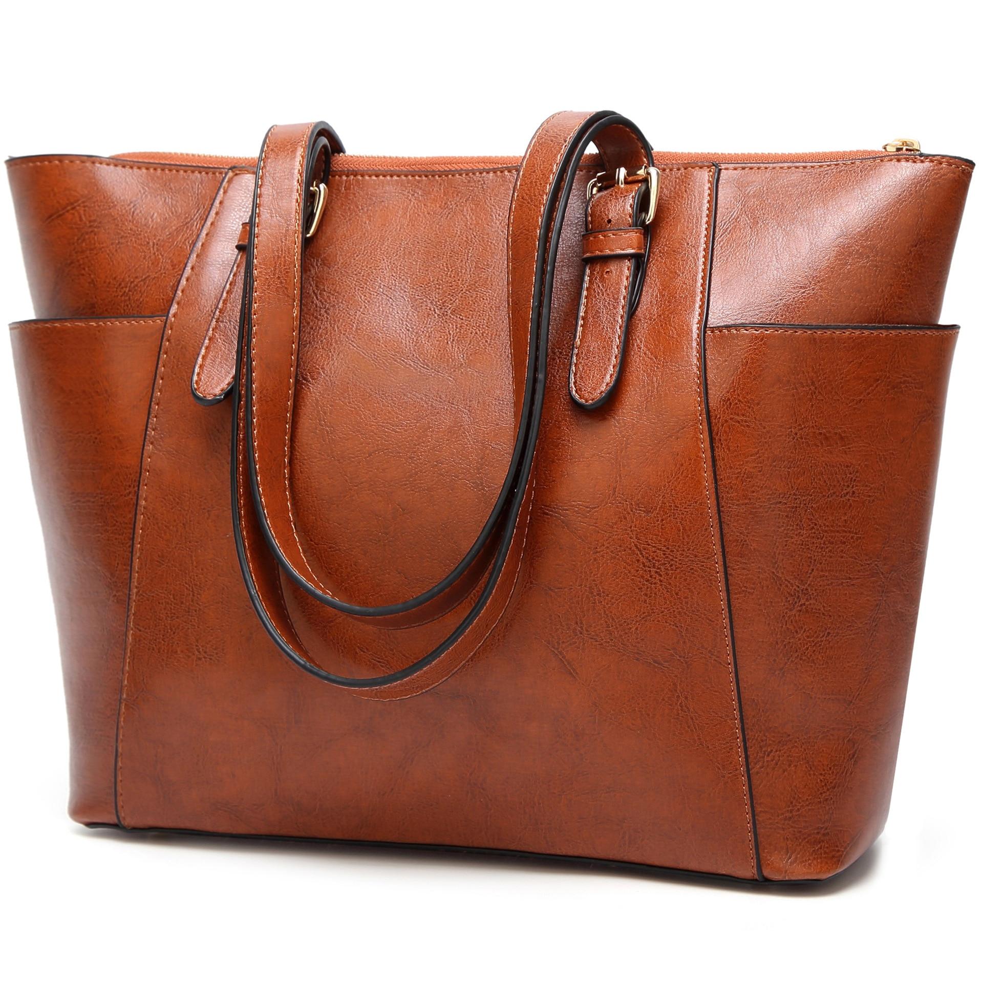 2019 Fashion Women's Bag Single Shoulder Messenger Bag Foreign Trade Waxy Women's Bag