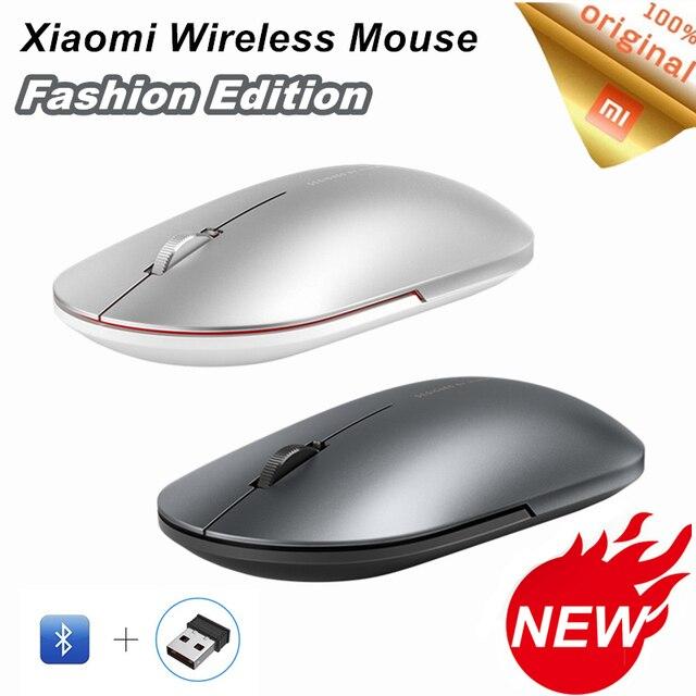 שיאו mi Mi אלחוטי עכבר Bluetooth עכבר משחק עכברים 1000dpi 2.4GHz WiFi קישור אופטי עכבר Mi ni מתכת נייד עכבר