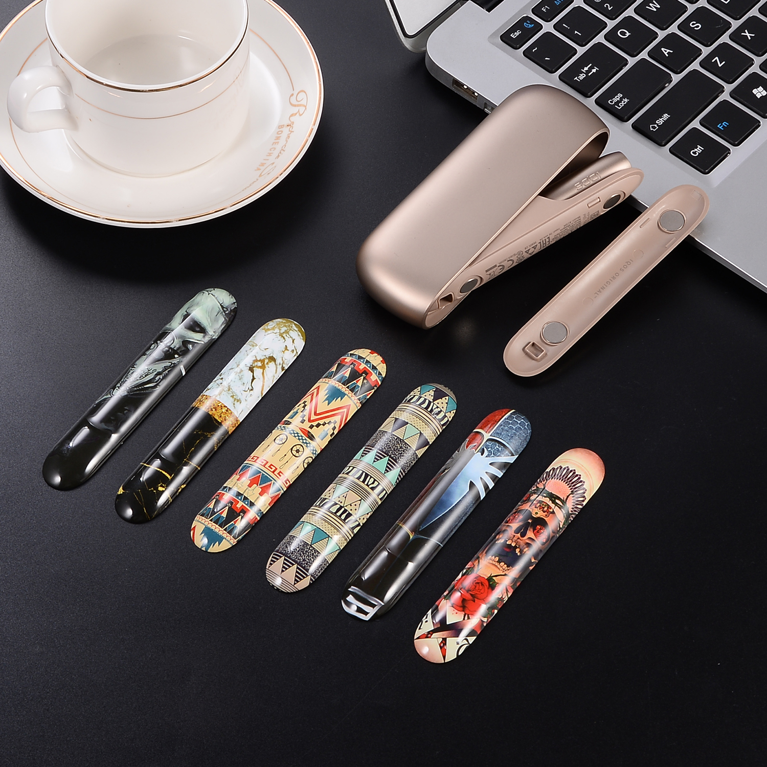 New Design Replaceable Magnetic Cap Camouflage Stone For Iqos 3 Case And Fashion Design Of Iqos 3 In 2019  Icos аксессуары