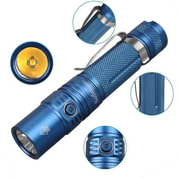 Sofirn New SP32A V2.0 Powerful LED Flashlight 18650 High Power 1300lm Cree XPL2 Torch Light 2 Groups With Ramping Indicator Lamp sofirn sp32a v2 0 led flashlight cree xpl2 powerful 1300lm torch light edc flashlight 18650 with dtp pcb power indicator ramping