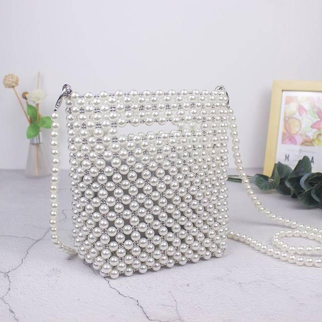 Брендовые Дизайнерские Сумочки Ручной работы, сумка из бисера и жемчуга в стиле ретро, плетеная Женская диагональная женская сумка, Новая вечерняя сумка, клатч