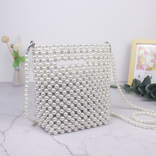 Brand Designer Handbags Handmade Beaded Retro Pearl Bag Woven Mini Female Diagonal Mobile Phone New Evening clutch bag