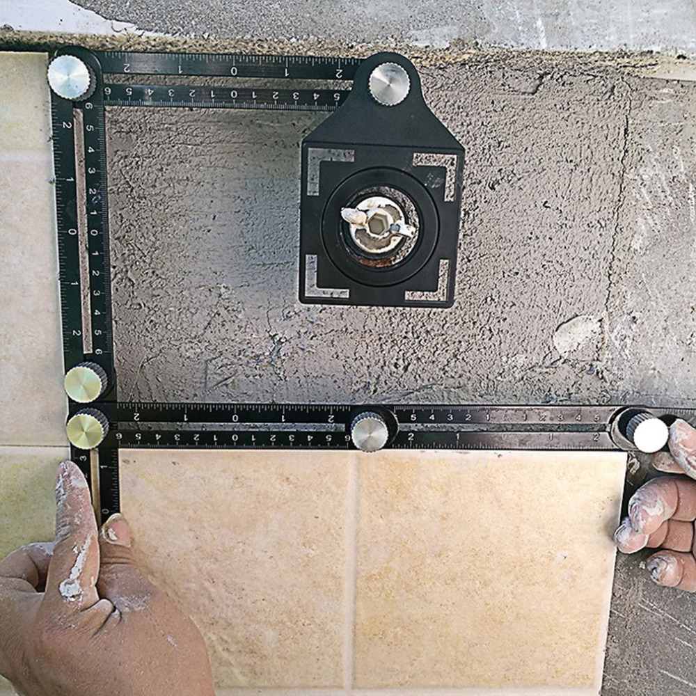 Multi Angle Measuring Ruler for measuring tiles on walls