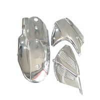 Motorcycle scooter crankcase cover 3 piece set plated