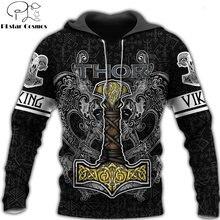Viking Бог 3d во всем печатных Мужская Толстовка harajuku модная