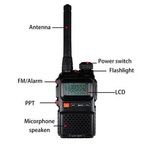 Image 3 - Baofeng UV 3R Plus talkie walkie double bande UV3R + Radio bidirectionnelle sans fil CB jambon Radio FM HF émetteur récepteur UHF VHF UV 3R interphone