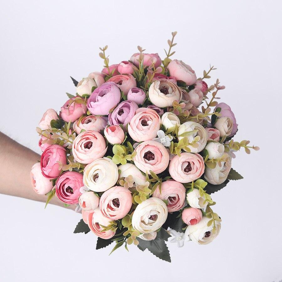 Daisy Camellia artificial flowers rose wedding decoration fake flower artificial flowers bouquet vines home decor accessories