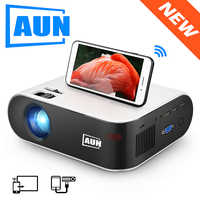 AUN MINI Projector W18C, 2800 Lumens, 854*480P, Wireless Sync Display For Phone, LED Portable Home Cinema for 1080P Video Beamer