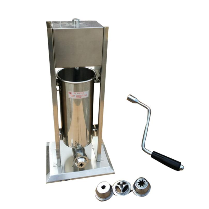 Churros Machine Manual Operation Stainless Steel Churro Maker Capacity 12 Liters Brand New
