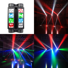 Mini Dj Led Moving Head Light Disco 8X 10W RGBW Spider Lite DMX 512 Controller fendinebbia Stage Light Night Club KTV Bar