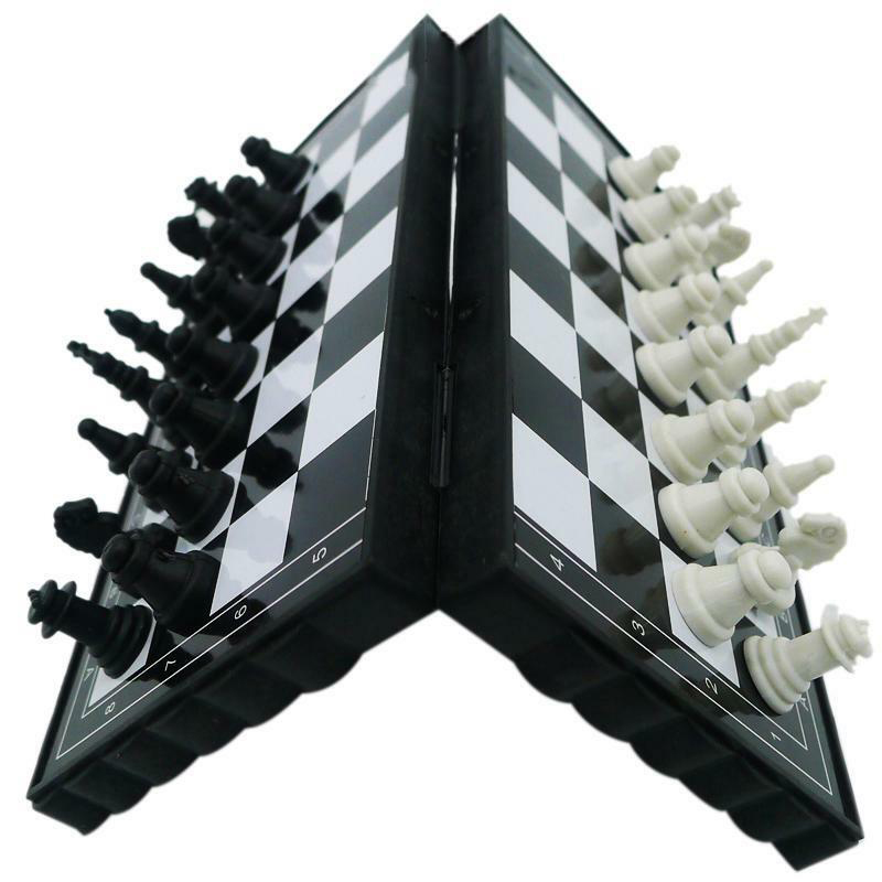 2020 New Kids Magnetic Chessboard Game Portable Folding Educational Toys Chess Set International Chess Game