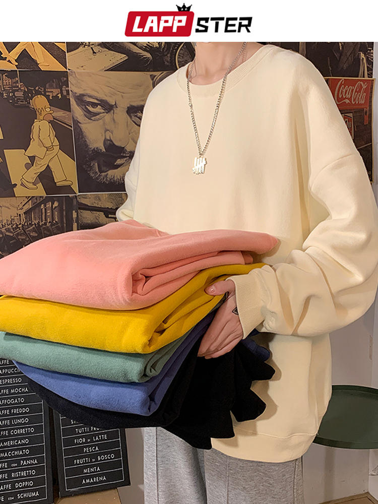 Harajuku Hoodies Sweatshirts Oversized Japanese Streetwear Lappster Men Korean Fashions