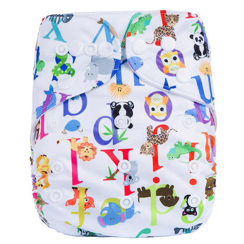 Organic Plastic Pants Baby Cloth Diaper Without Inserts Waterproof Modern Nappies N19