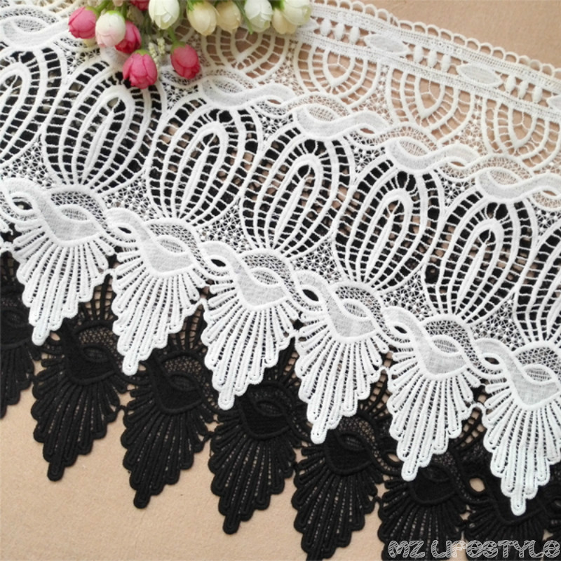 1yard  Embroidery Lace Trim Fabric For Clothing Accessories Water Soluble European Luxury Decorative Lace Trim