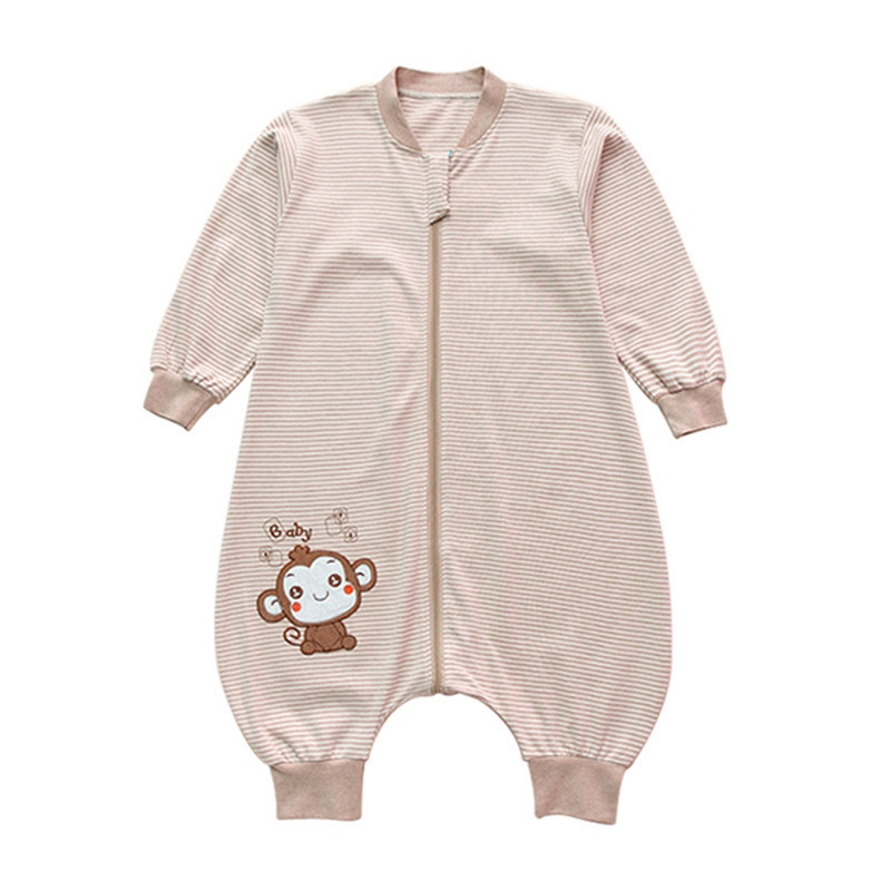 Split Leg Design Baby Sleeping Bag Long-Sleeved Warm Sleeping Bag Sack Thickened Anti-Kick Pajamas Sleeping Bag