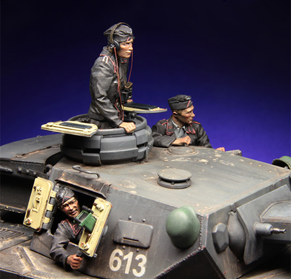 1/35 Ancient Tank Crew Include 3 (NO TANK )    Resin Figure Model Kits Miniature Gk Unassembly Unpainted