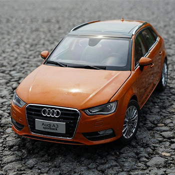 Original Authorized Authentic Alloy 1/18 Scale Audi A3 Sportback Orange Diecast Classic Car Model for Gift Collection image