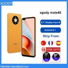 Xgody yüz kimliği 3G akıllı telefon Android 8.1 6.7