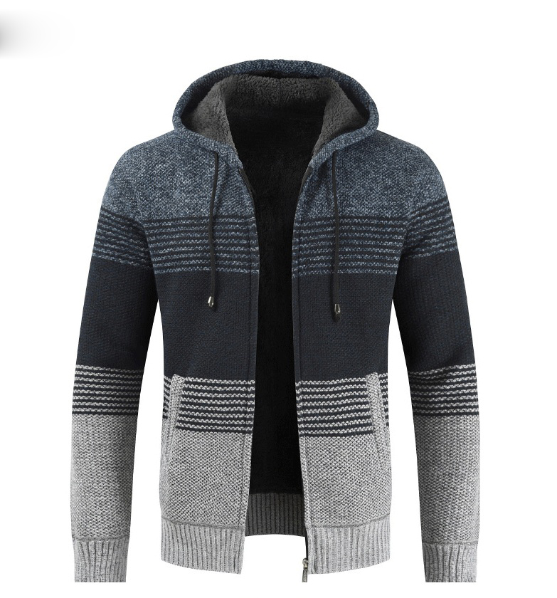 Thick Warm Hooded Cardigan Sweater 18