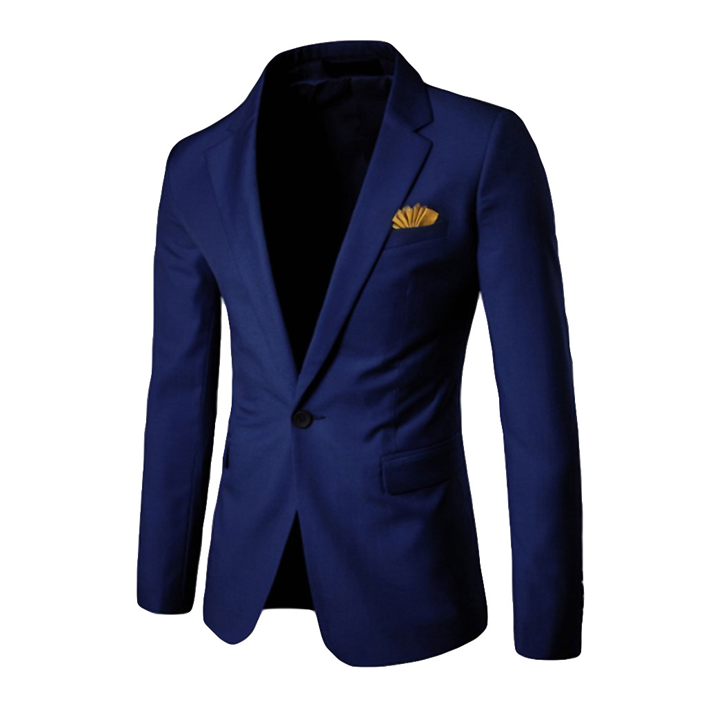 HOT Men's Stylish Casual Solid Blazer Business Wedding Party Outwear Coat Suit Tops Mens Blazers Big Size Mens Blazers Casual