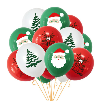15Pcs Merry Christmas Balloons Santa Claus Elk Christmas Tree Christmas Party Decorations for Home Xmas Globos Navidad New Year happy new year 2021 foil balloon set 2020 merry christmas eve party decorations for home ornaments santa claus tree xmas snowman