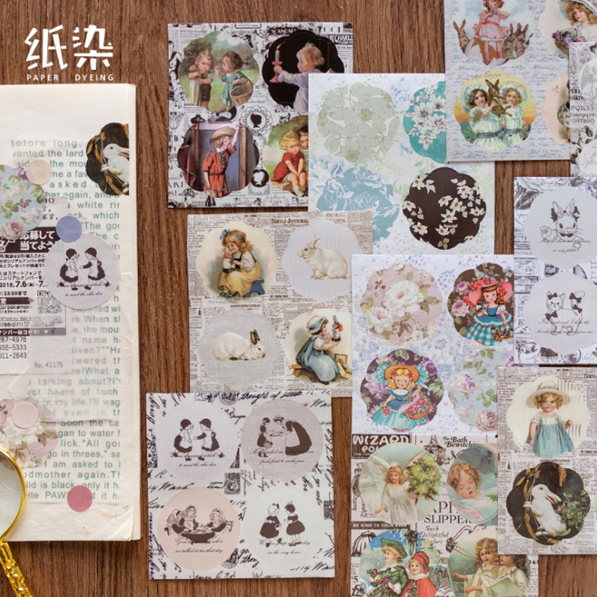 6pcs/lot Romantic Series  Sticker Retro Creative Scrapbooking Stickers DIY Diary Album Sticker Label